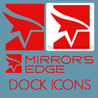 Mirror's Edge Dock Icons by lapinlunaire