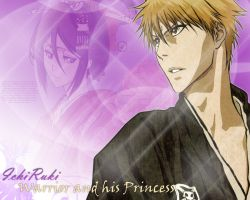 IchiRuki Wallpaper by Elinicia