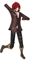 [MMD FNAF] Foxy Humanization Preview by Iamhairbrush