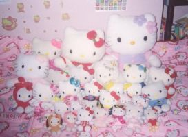 Hello Kitty Plushies by kitty4eva