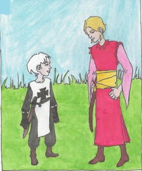 APH - little Teuton and young Poland by falkazmijka