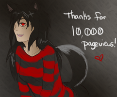 Thank You! .:10k pageviews:. by Clue000
