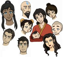 Avatar Legend of Korra Characters by SuirenShinju