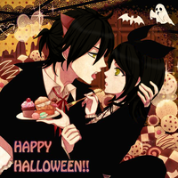 Kagene Twins' Sweet Halloween V1 by KuraiLilia1998