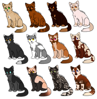 Debut Batch - Cat Pointables by BloodEclipseAdopts