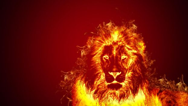 Lion in flames by bekyloves