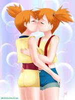 commish: Misty Kissing? by J8d