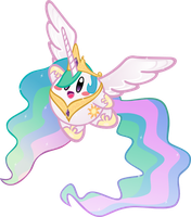 Princess Celestia Kirby by jrk08004