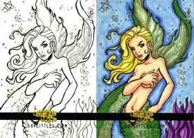 Mermaid Sketch Card Commish by Jayson-kretzer