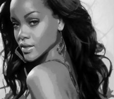 Rihanna Paint By Number Art Kit by numberedart