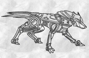 Robot Wolf by CreeperXX