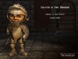 Calvin and the Dragon WP1 by NeonDuck