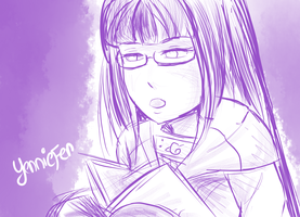 Kickstarter Commission: Hinata Reading by FaithWalkers