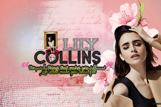 quirky things // LILY COLLINS by belindahorans