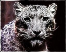 Fractal Snow Leopard by mediphysical