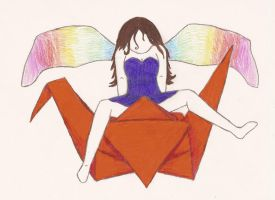 Origami Fairy by puggers