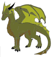 New OC Fafner-mythical dragon by werewolftg