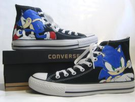 Sonic Chucks by TheProductionist