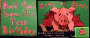 Diabetic Birthday Card by weirdal
