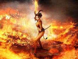 Demoness of Sword of fire  tail resized by FueledbypartII