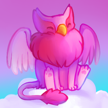 Neopets - Pink Eyrie by nyausi