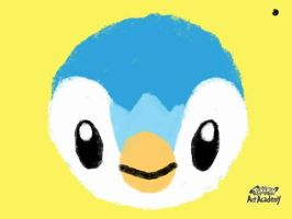 First Piplup (Pokemon Art Academy) by laprasking