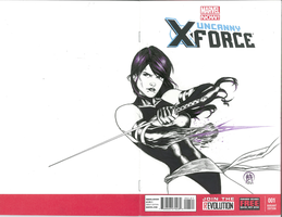 Psylocke inked by Ace-Continuado