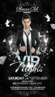 VIP Party Flyer PSD Template Silver by outlawv15