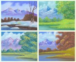Four seasons by jkBunny
