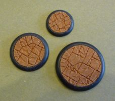 Detailed Privateer Press style round lipped bases by MechanicalHorizon