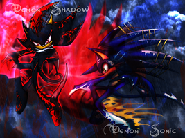 Demon Sonic Shadow Background by Flip0024