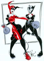 Harley and Selina by KidAntipathy