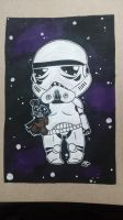 Commission Storm trooper chibi with Vader teddy by Pradaninja