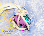 Dragon Bell Ornament - blu white lilac by rosepeonie