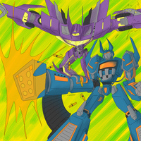 Coloured Soundwave and Shockwa by PlayButtonCrotch