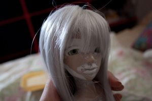 Progress: Polymer clay doll by materiae