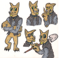 Diamond dog OC - Iron Oxide by devilsreject493
