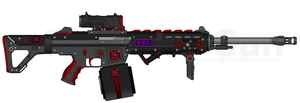 DII-DSC SCR-45LMG 'Tsunami' w/ Single Drum Mag by Lord-DracoDraconis
