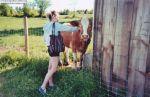 Sabra meets a cow. by angelaCRUNK