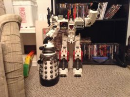 Metroplex and Dalek by Blackbird2