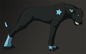 SE Dogs: Black Star by Demon-Fire-Wolf