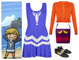 LOZ Wind Waker Toon Link Skater Dress / Outfit by Enlightenup23