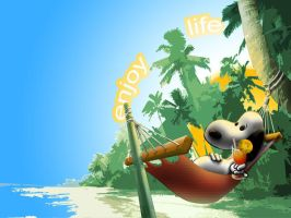 Tropical Snoopy by paolinobeta