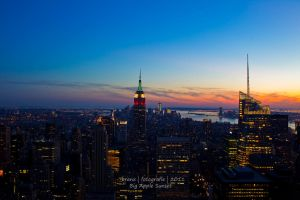 NYC Sunset by tigerjet
