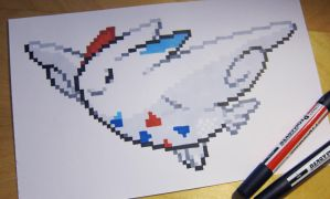 Togekiss sprite drawing by Skudde