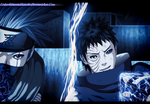 Naruto 629 - Kakashi vs Obito by LiderAlianzaShinobi