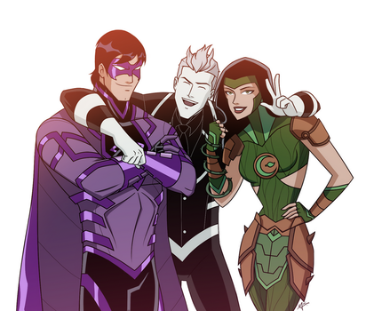Zener, Toonman and Empress - commission by mariananaca