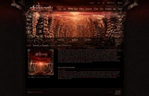 Silent Eternity website layout by xaay
