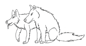 Wolf lineart by CanineCriminal