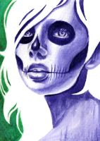 Minipainting Day of the Dead 3 by misscarissarose